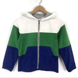 Hanna Andersson Green Terry Cloth Zip Up Hoodie